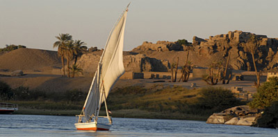 Faluka on the Nile: Cairo tours from Eilat
