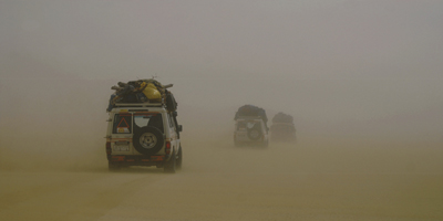 Sand storm in the Western Desert of Egypt