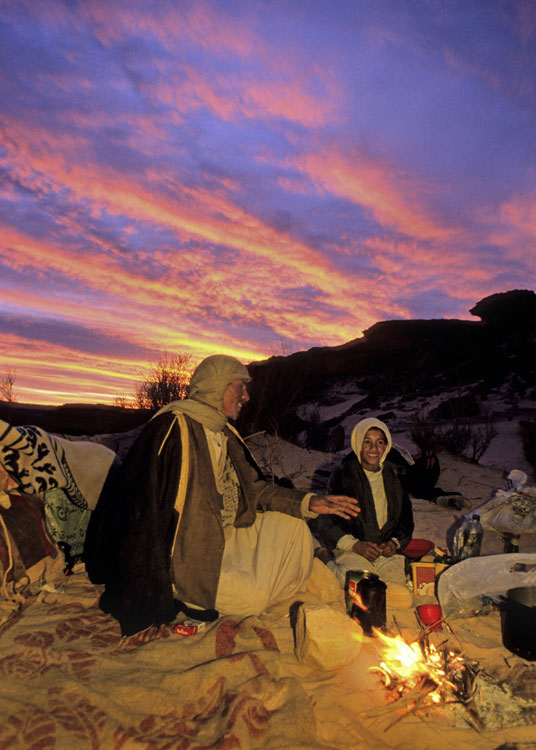 Camping out in the Sinai desert- Egypt