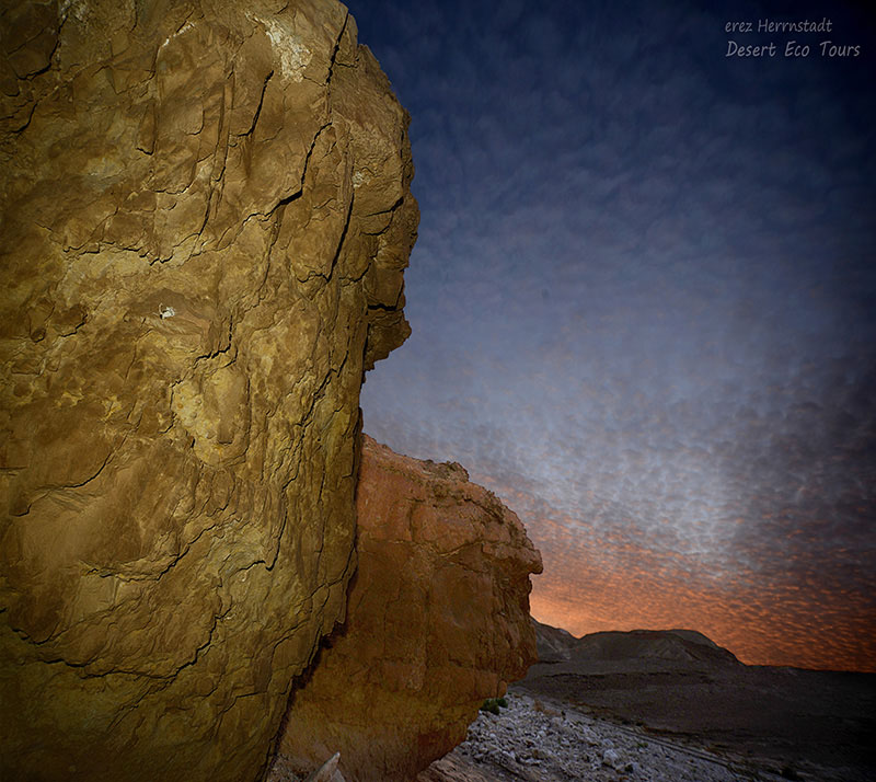 Sunset over the Negev desert: Negev jeep tours