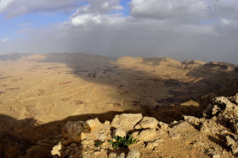 Small Crater- Negev desert from Eilat or Jerusalem